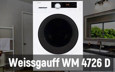 Обзор стиральной машины Weissgauff WM 4726 D