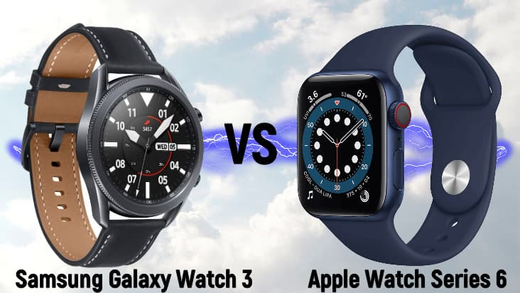 Samsung Galaxy Watch 3 и Apple Watch Series 6