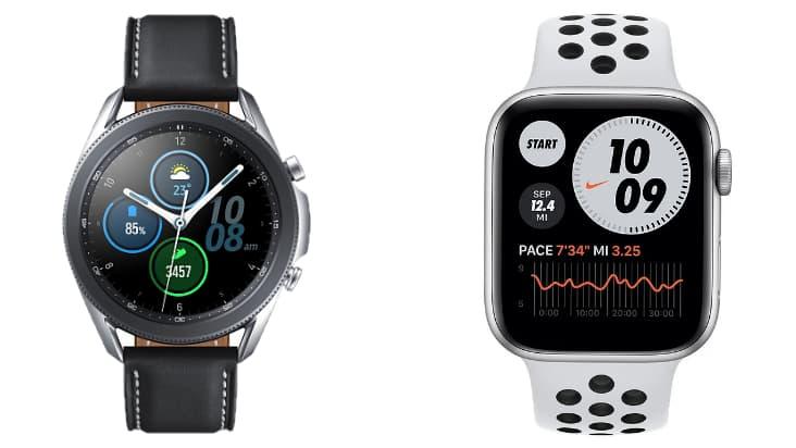 Сравнение Galaxy Watch 3 и Apple Watch Series 6